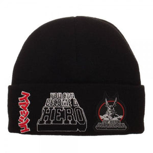 My Hero Academia Multi-Patch Screen Printed Acrylic Wool Beanie