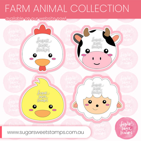 Sugar Sweet Stamps Farm Animal Cookie Cutters