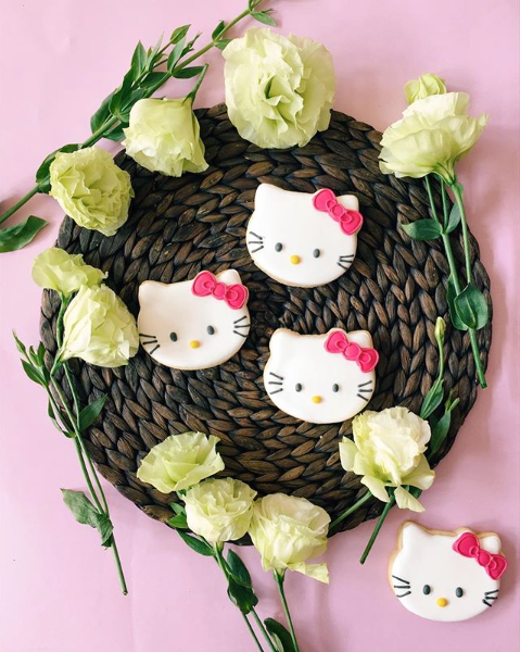 Hello Kitty Sugar Cookies - Sugar Rush by Steph