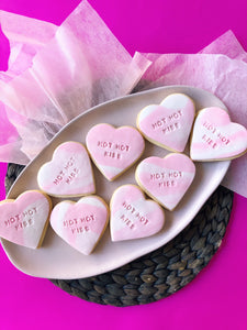Personalised heart cookies - Sugar Rush by Steph
