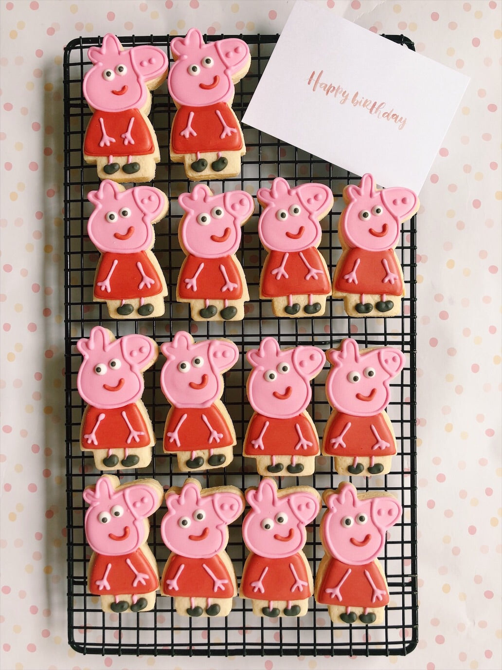 Peppa Pig Cookies - Sugar Rush by Steph