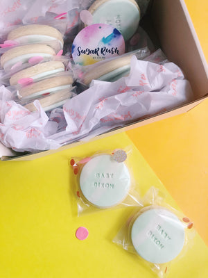 Personalised Cookies – Round-Shaped - Sugar Rush by Steph