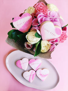 Personalised Cookies – Heart-Shaped - Sugar Rush by Steph