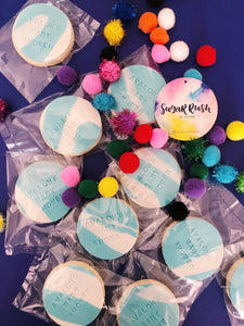 Personalised round cookies - Sugar Rush by Steph