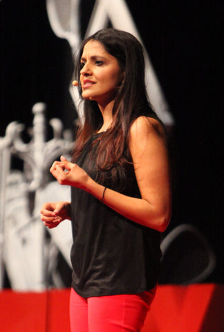Payal addresses crowd at 2016 TedXUF on 'Letting Go of the Outcome'