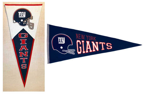 Two styles of pennants - Heritage Sports Banners
