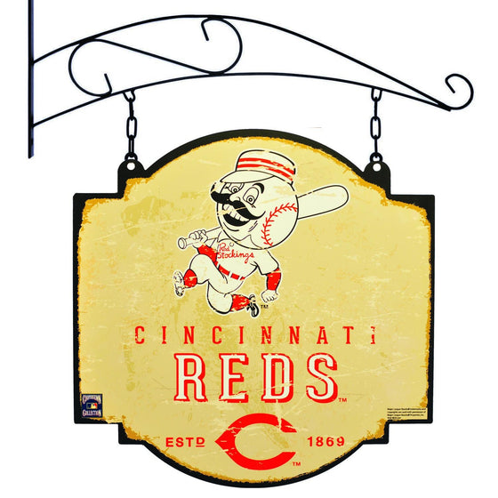MLB, Cincinnati Reds, Metal Tavern Signs, Sign, Officially licensed sign, Cincinnati Reds gift
