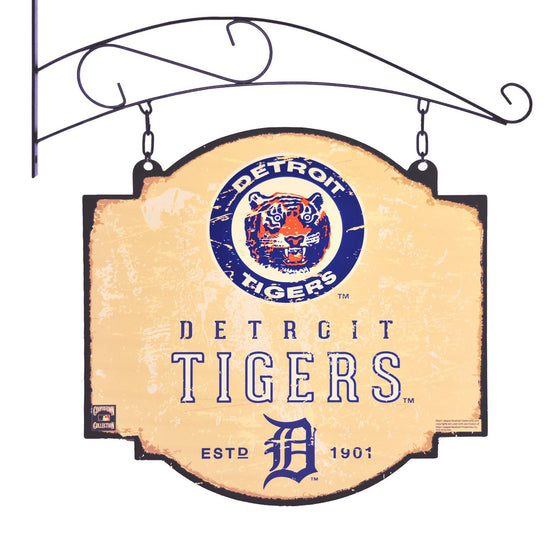 MLB, Detroit Tigers, Metal Tavern Signs, Sign, Officially licensed sign, Detroit Tigers gift