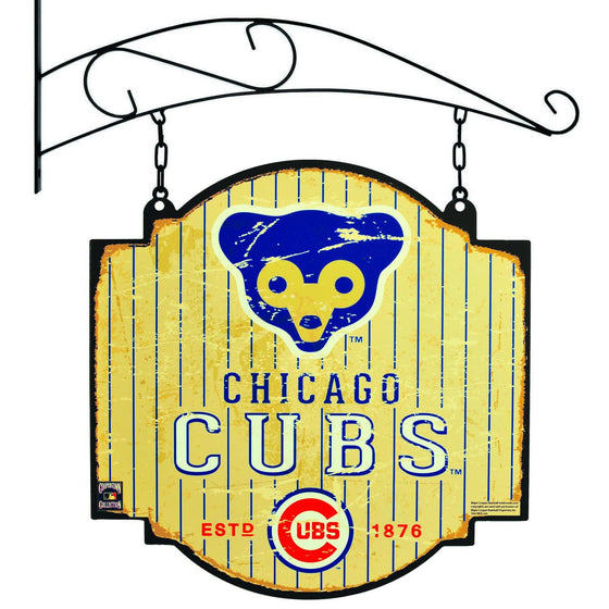 MLB, Chicago Cubs, Metal Tavern Signs, Sign, Officially licensed sign, Chicago Cubs gift