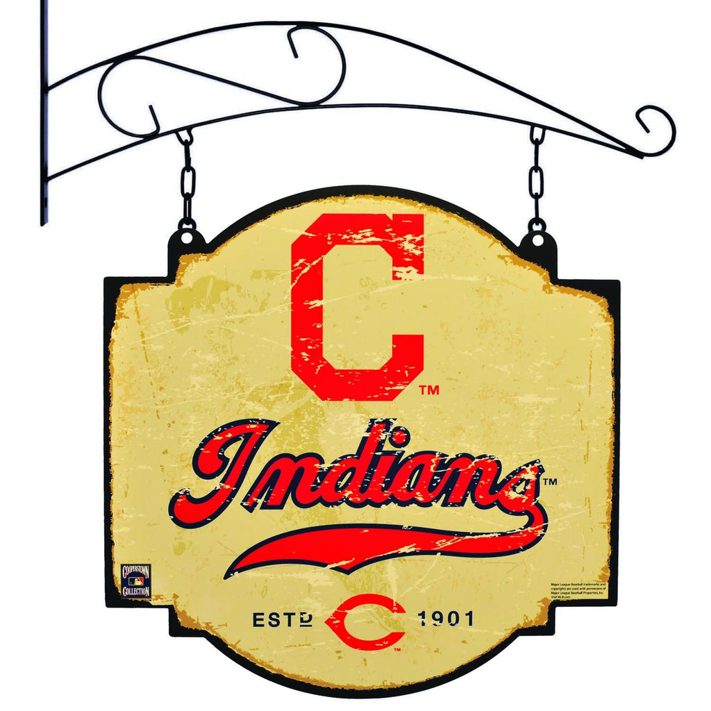 MLB, Cleveland Indians, Metal Tavern Signs, Sign, Officially licensed sign, Cleveland Indians gift