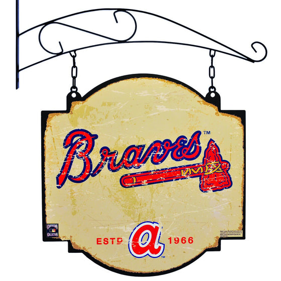 MLB, Atlanta Braves, Metal Tavern Signs, Sign, Officially licensed sign, Atlanta Braves gift