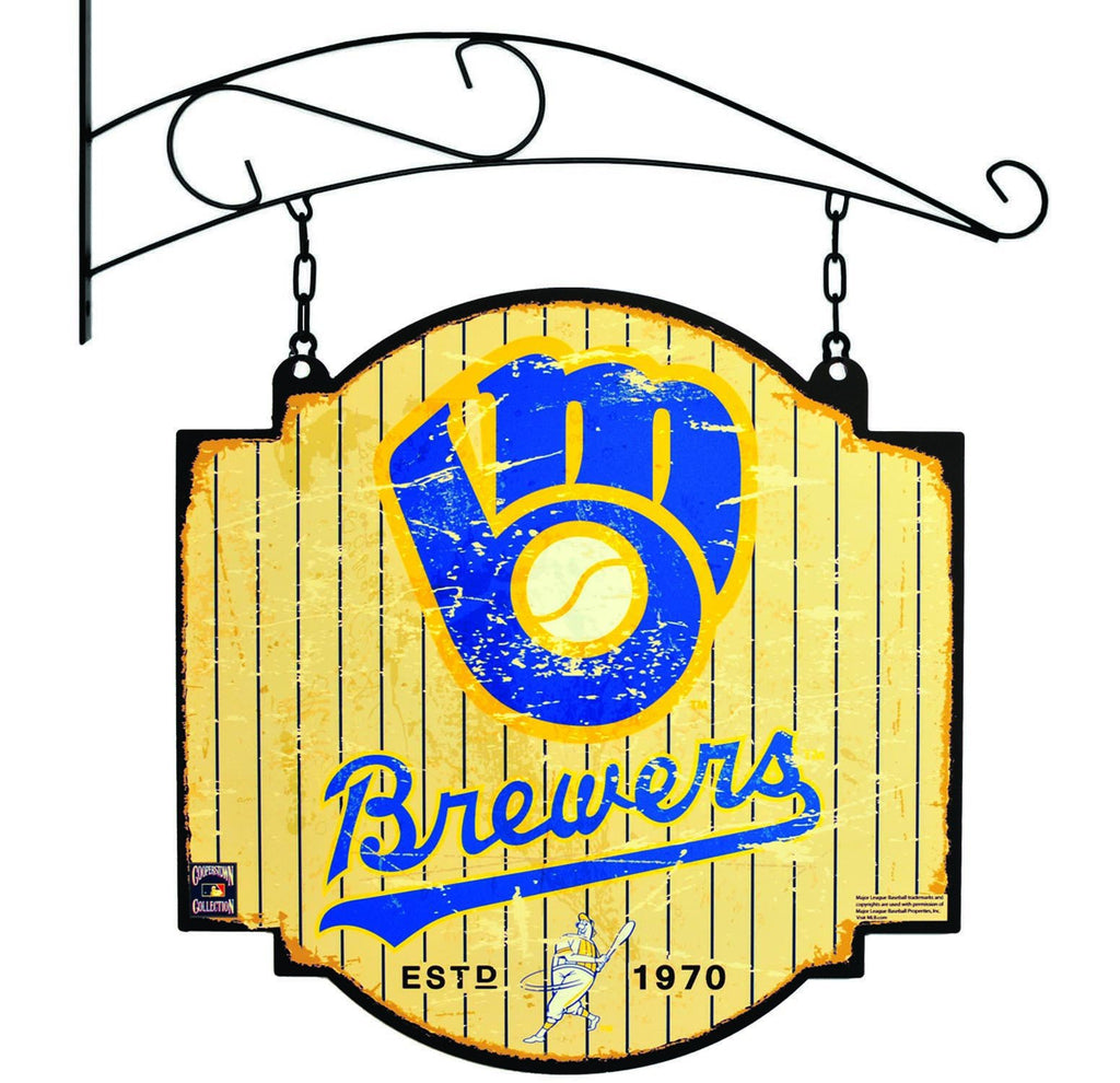 MLB, Milwaukee Brewers, Metal Tavern Signs, Sign, Officially licensed sign, Milwaukee Brewers gift