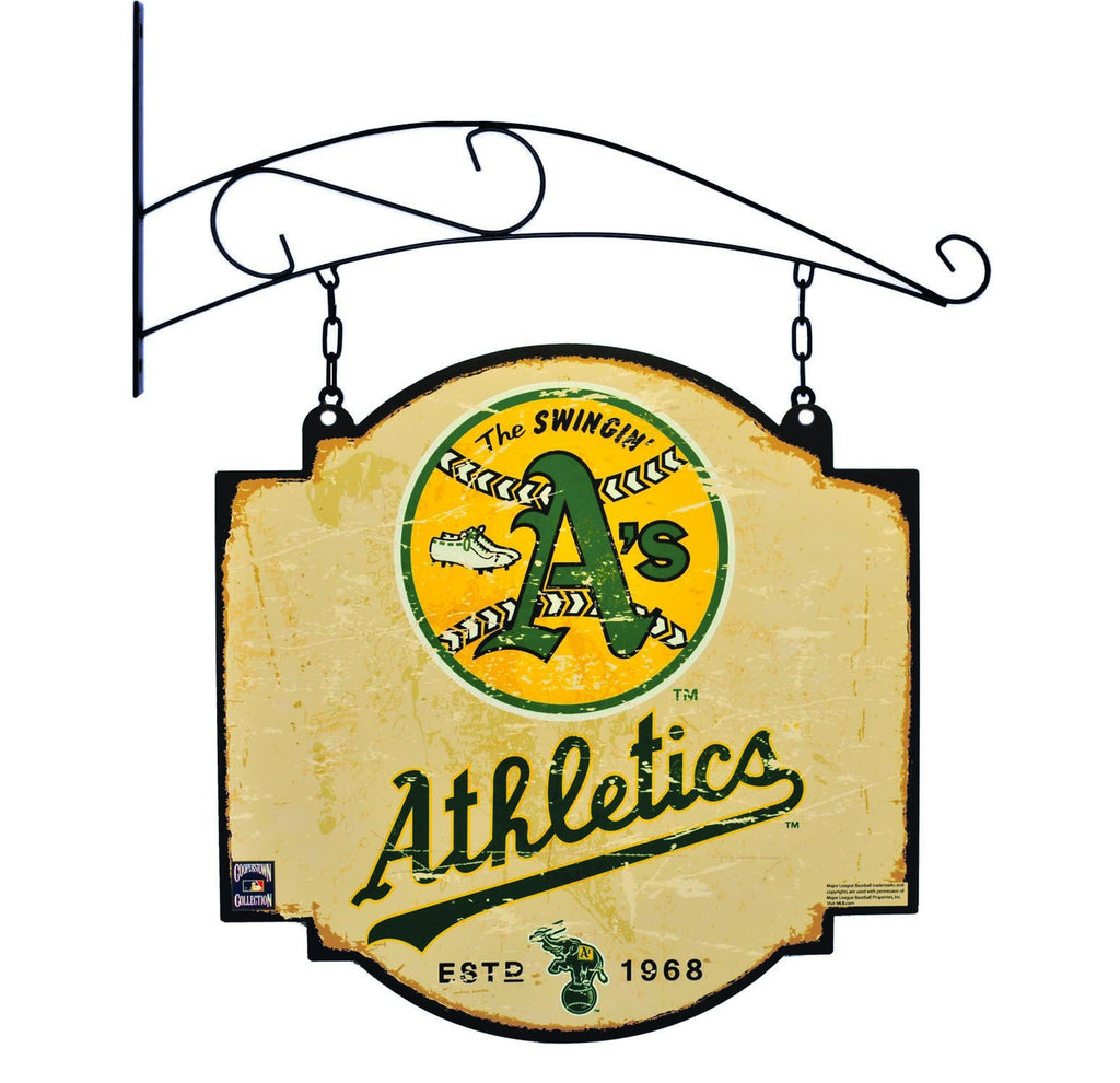 MLB, Oakland Athletics, Metal Tavern Signs, Sign, Officially licensed sign, Oakland Athletics gift