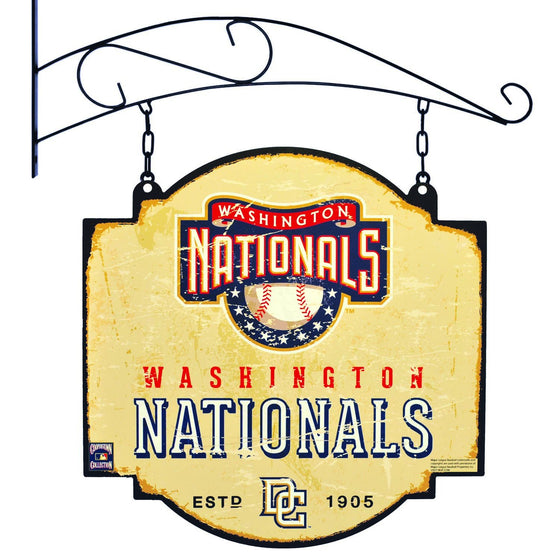 MLB, Washington Nationals, Metal Tavern Signs, Sign, Officially licensed sign, Washington Nationals gift