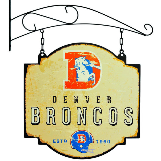 NFL, Denver Broncos, Metal Tavern Signs, Sign, Officially licensed sign, Denver Broncos gift