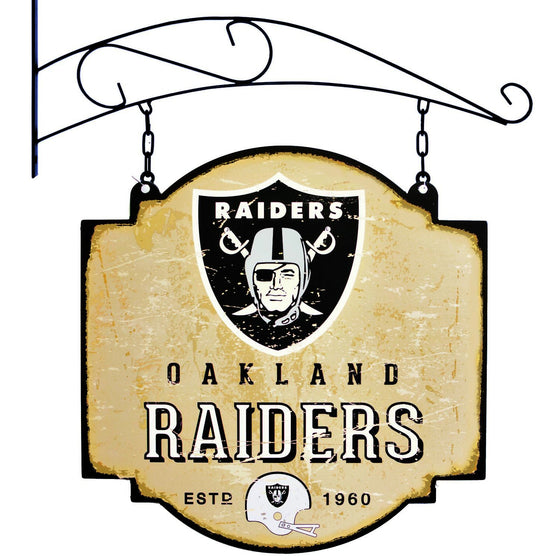 NFL, Oakland Raiders, Metal Tavern Signs, Sign, Officially licensed sign, Oakland Raiders gift