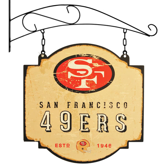 NFL, San Francisco 49ers, Metal Tavern Signs, Sign, Officially licensed sign, San Francisco 49ers gift