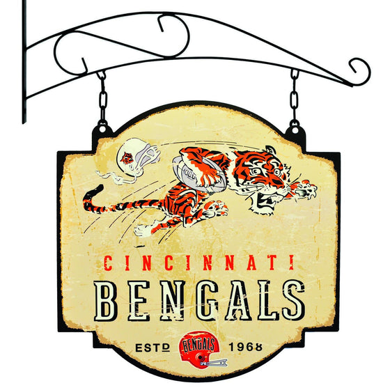 NFL, Cincinnati Bengals, Metal Tavern Signs, Sign, Officially licensed sign, Cincinnati Bengals gift