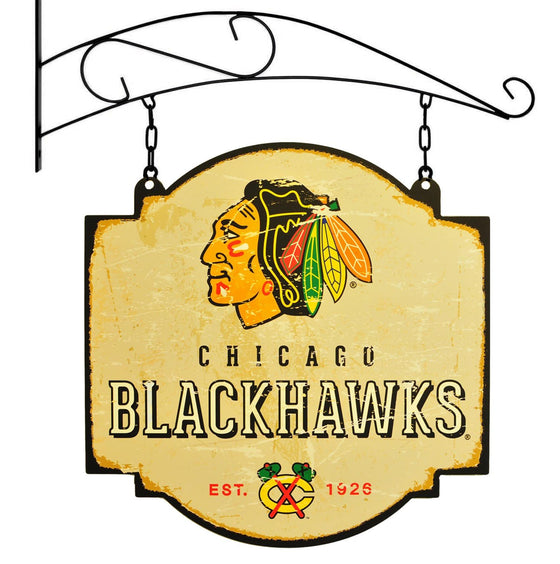 NHL, Chicago Blackhawks, Metal Tavern Signs, Sign, Officially licensed sign, Chicago Blackhawks gift
