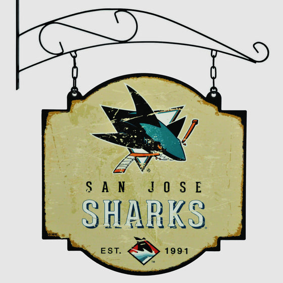 NHL, San Jose Sharks, Metal Tavern Signs, Sign, Officially licensed sign, San Jose Sharks gift