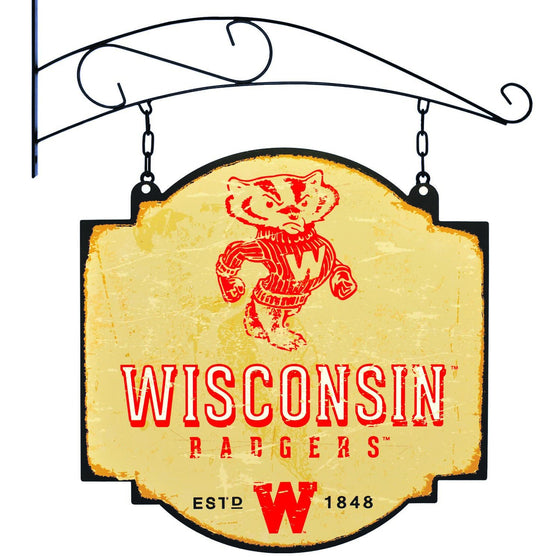 NCAA, Wisconsin, Metal Tavern Signs, Sign, Officially licensed sign, Wisconsin gift