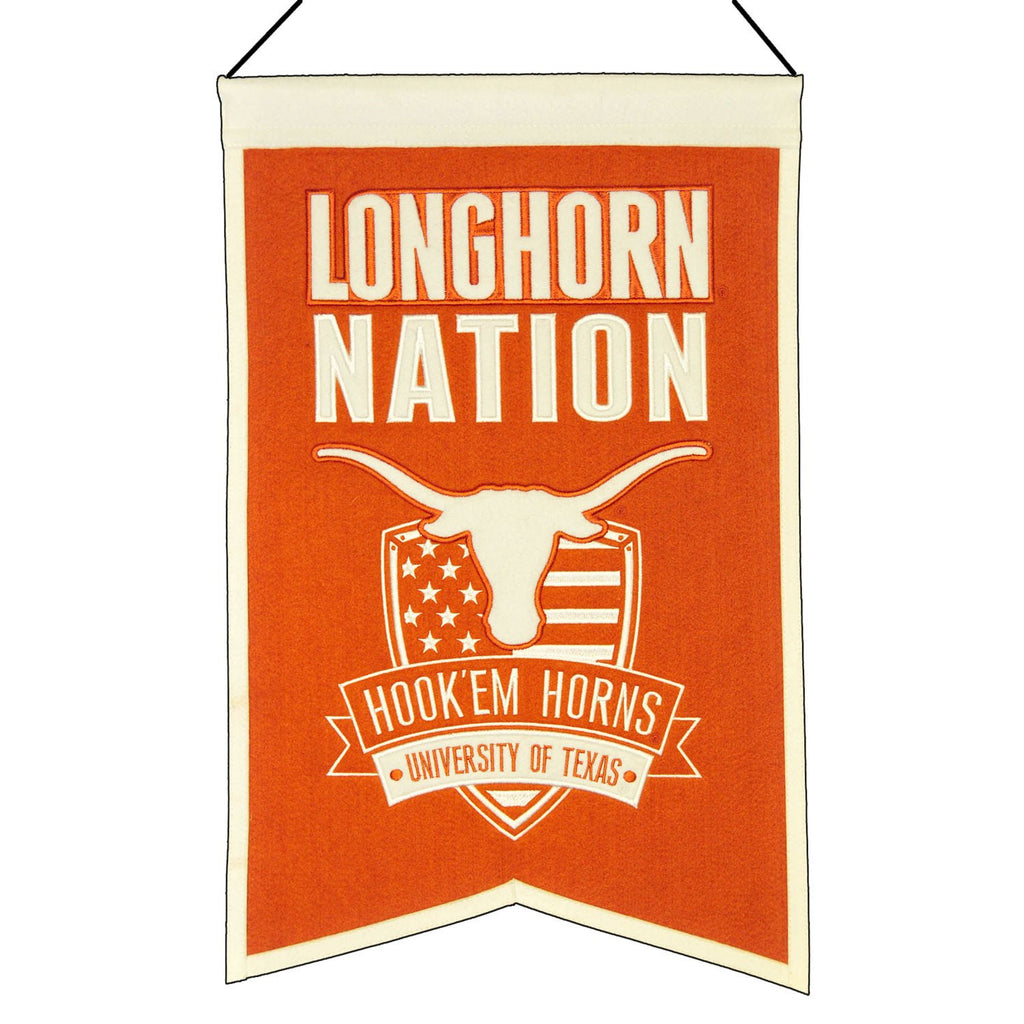 NCAA, Texas, Banners, Embroidered Banner, Officially licensed banner, Texas gift