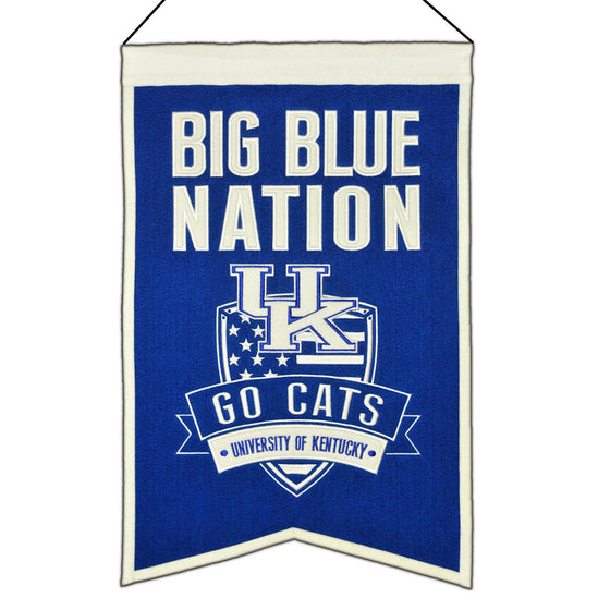 NCAA, Kentucky, Banners, Embroidered Banner, Officially licensed banner, Kentucky gift