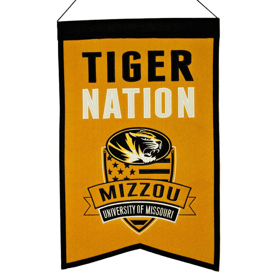 NCAA, Missouri, Banners, Embroidered Banner, Officially licensed banner, Missouri gift