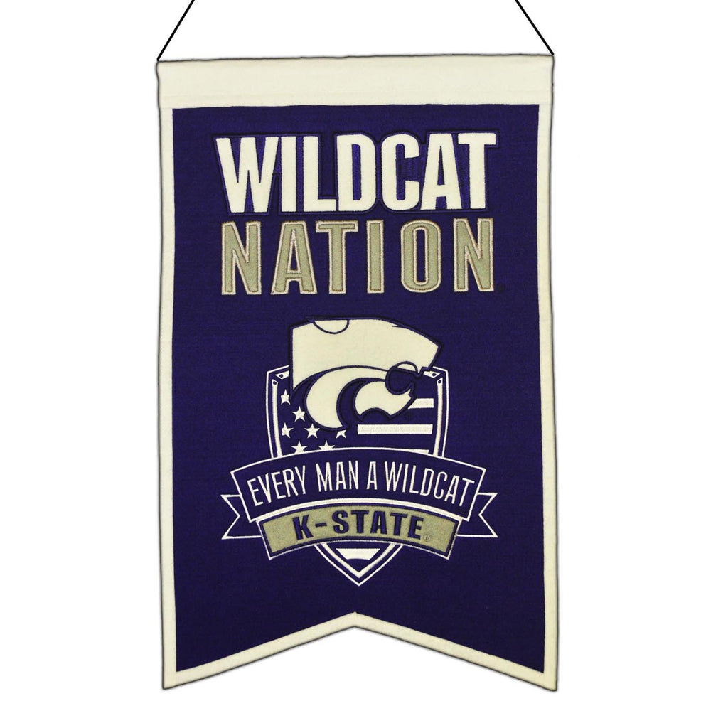 NCAA, Kansas State, Banners, Embroidered Banner, Officially licensed banner, Kansas State gift