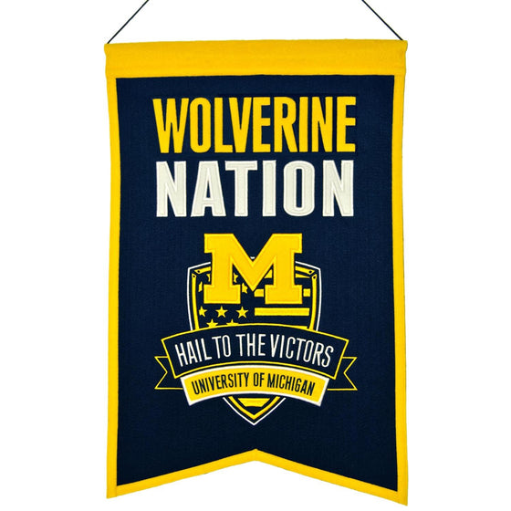 NCAA, Michigan, Banners, Embroidered Banner, Officially licensed banner, Michigan gift