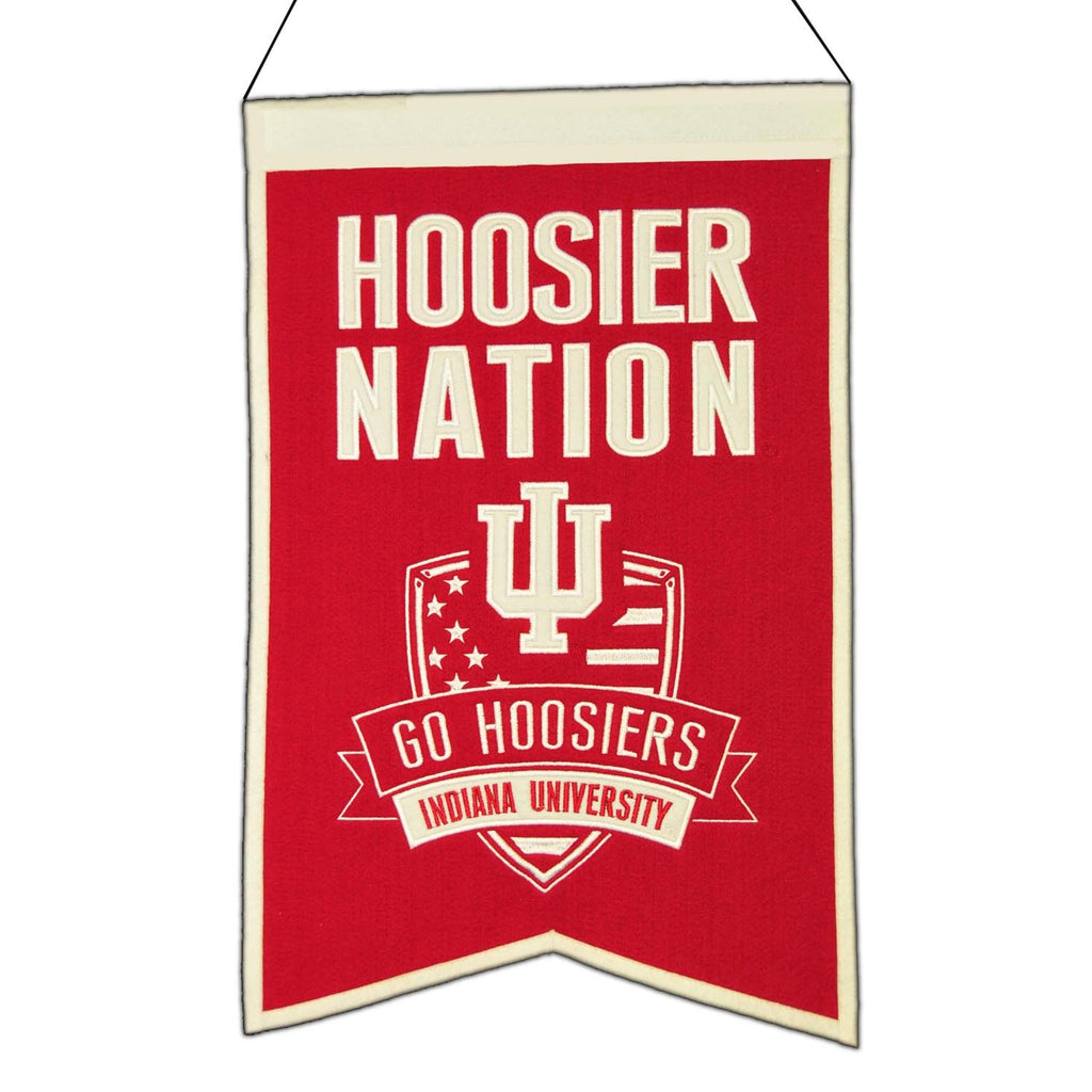 NCAA, Indiana, Banners, Embroidered Banner, Officially licensed banner, Indiana gift