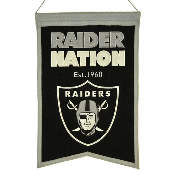 NFL, Oakland Raiders, Banners, Embroidered Banner, Officially licensed banner, Oakland Raiders gift