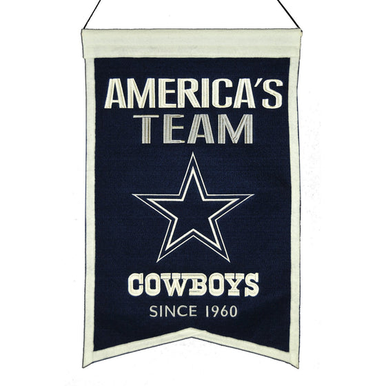 NFL, Dallas Cowboys, Banners, Embroidered Banner, Officially licensed banner, Dallas Cowboys gift