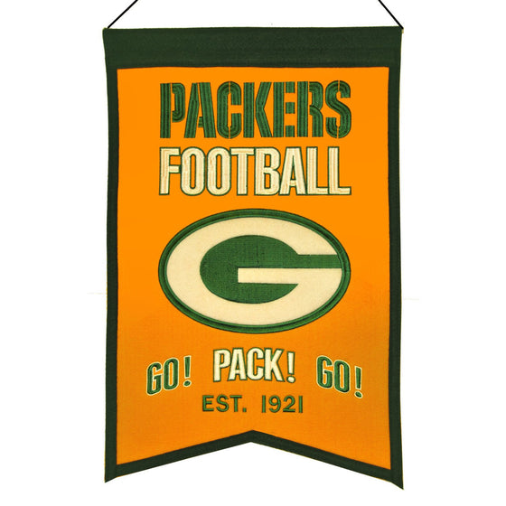 NFL, Green Bay Packers, Banners, Embroidered Banner, Officially licensed banner, Green Bay Packers gift
