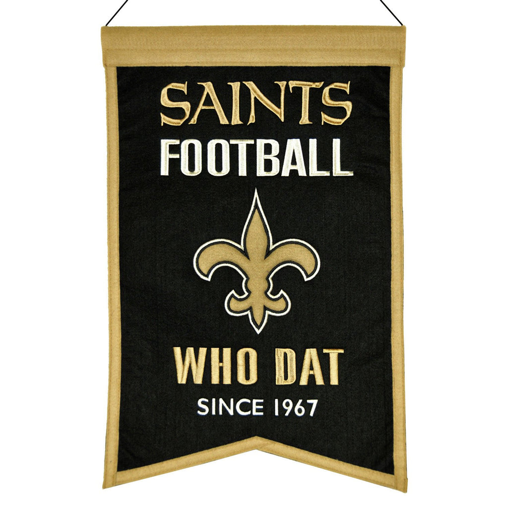 NFL, New Orleans Saints, Banners, Embroidered Banner, Officially licensed banner, New Orleans Saints gift
