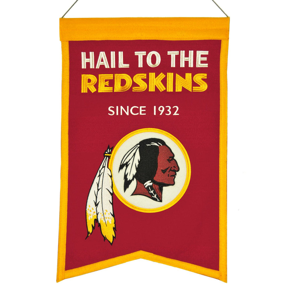 NFL, Washington Redskins, Banners, Embroidered Banner, Officially licensed banner, Washington Redskins gift