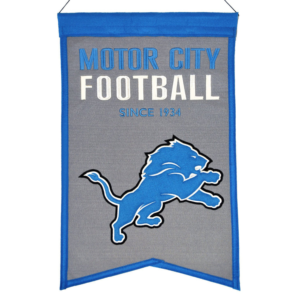 NFL, Detroit Lions, Banners, Embroidered Banner, Officially licensed banner, Detroit Lions gift