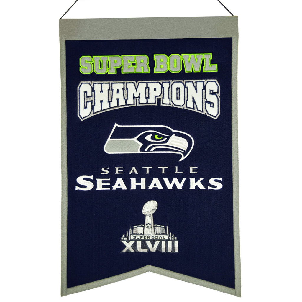 NFL, Seattle Seahawks, Banners, Embroidered Banner, Officially licensed banner, Seattle Seahawks gift
