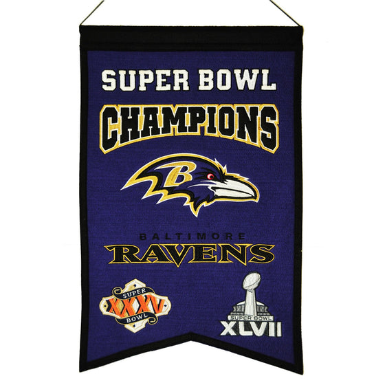 NFL, Baltimore Ravens, Banners, Embroidered Banner, Officially licensed banner, Baltimore Ravens gift