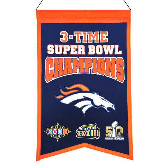NFL, Denver Broncos, Banners, Embroidered Banner, Officially licensed banner, Denver Broncos gift