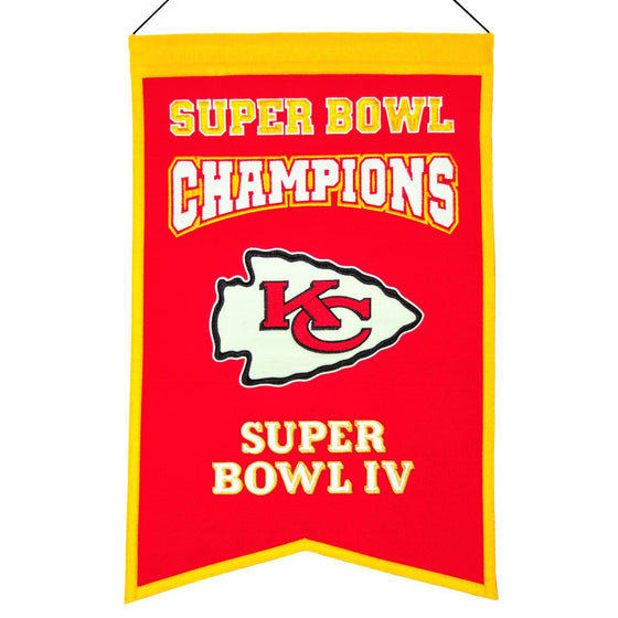 NFL, Kansas City Chiefs, Banners, Embroidered Banner, Officially licensed banner, Kansas City Chiefs gift