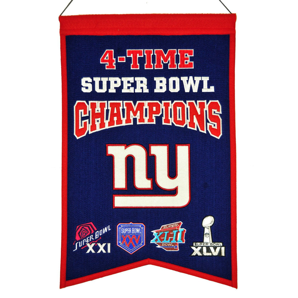 NFL, New York Giants, Banners, Embroidered Banner, Officially licensed banner, New York Giants gift