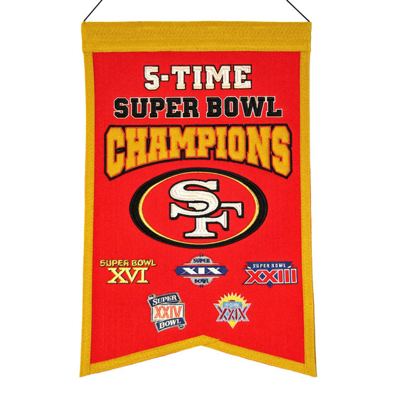 NFL, San Francisco 49ers, Banners, Embroidered Banner, Officially licensed banner, San Francisco 49ers gift