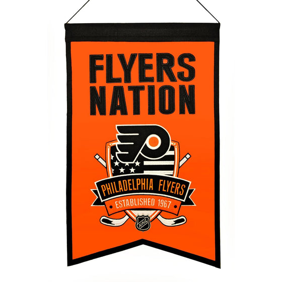 NHL, Philadelphia Flyers, Banners, Embroidered Banner, Officially licensed banner, Philadelphia Flyers gift