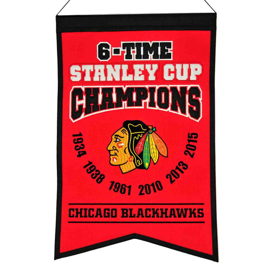 NHL, Chicago Blackhawks, Banners, Embroidered Banner, Officially licensed banner, Chicago Blackhawks gift