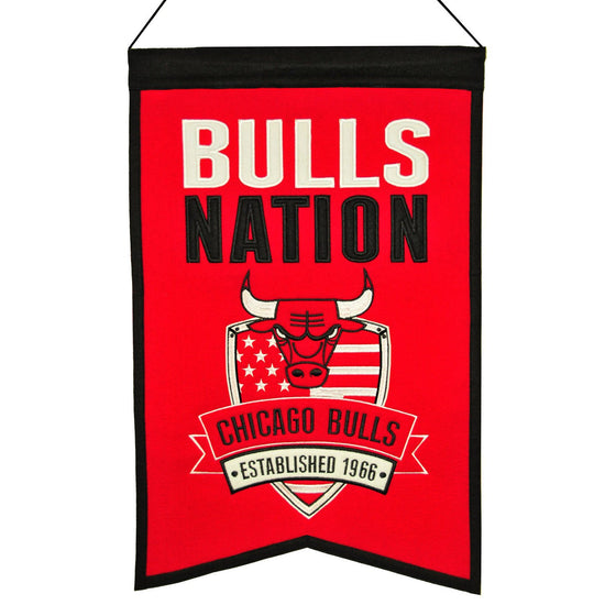 NBA, Chicago Bulls, Banners, Embroidered Banner, Officially licensed banner, Chicago Bulls gift