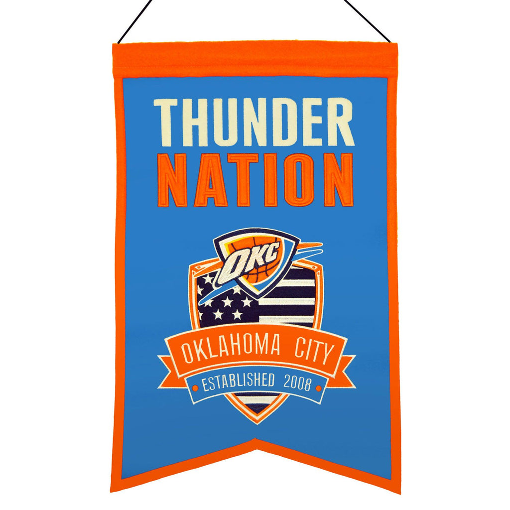 NBA, Oklahoma City Thunder, Banners, Embroidered Banner, Officially licensed banner, Oklahoma City Thunder gift
