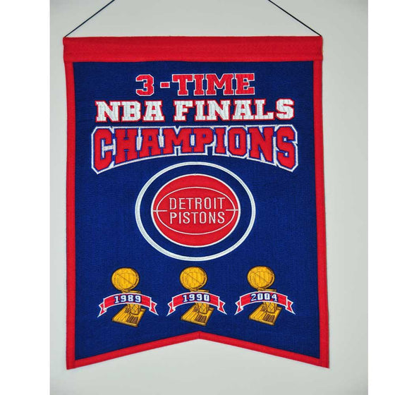 NBA, Detroit Pistons, Banners, Embroidered Banner, Officially licensed banner, Detroit Pistons gift