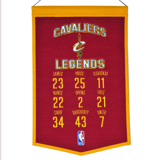 NBA, Cleveland Cavaliers, Banners, Embroidered Banner, Officially licensed banner, Cleveland Cavaliers gift