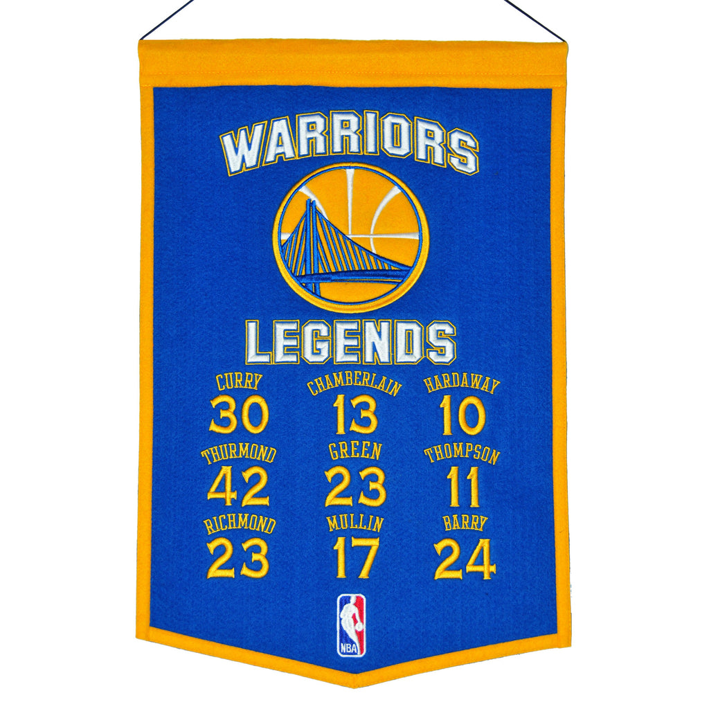 NBA, Golden State Warriors, Banners, Embroidered Banner, Officially licensed banner, Golden State Warriors gift